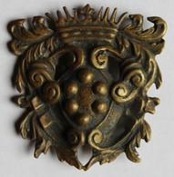 Ancienne Boucle De Ceinture Ceinturon En Bronze Couronne à Idientifier Militaria ??? - Equipement