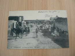 CP44/ TUNISIE KAIROUAN LA PLACE DE TUNIS / CARTE VOYAGEE - Tunisie