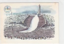 Olympische Winterspiele Oslo 1952 Mit Offiz.Vignette         (A-77-170701) - Giochi Olimpici