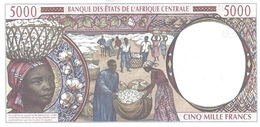 CENTRAL AFRICAN STATES P. 204Eg 5000 F 2002 UNC - Camerun