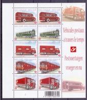Belgie - 2010 - OBP - ** F4056/60  - PL 2 ** - Postvoertuigen Vroeger En Nu ** - Belgique