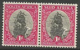 South Africa - 1950 Ribeeck's Ship Bilingual Pair 1d MNH **     SG 115   Sc 50 - South Africa (...-1961)