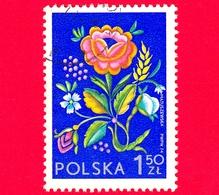 POLONIA - Usato - 1974 - Mostra Filatelica Internazionale SOCPHILEX IV, Katowice - Ricami Da Lowicz - Fiori - 1.50 Zl - 1944-.... Repubblica