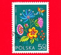 POLONIA - Usato - 1974 - Mostra Filatelica Internazionale SOCPHILEX IV, Katowice - Ricami Di Cracovia - 50 Gr - 1944-.... Repubblica