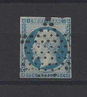 FRANCE.  YT  N° 15   Obl  1853 - 1853-1860 Napoléon III.