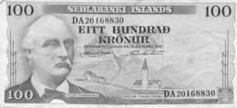 100 Kronen Island VF/F (III) - Iceland