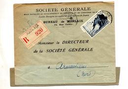 Lettre Recommandee Mporlaix Sur Raz - Postmark Collection (Covers)