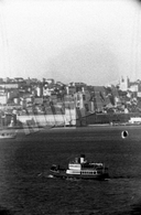 1943 RARE - CACILHEIRO View From CACILHAS, ALMADA To LISBON - PORTUGAL. ORIGINAL REAL NEGATIVE (NOT A PHOTO) - Photographie