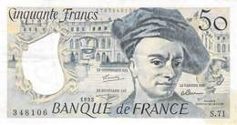 50 Francs Frankreich 1992 VF/F (III) - 1992-2000 Ultima Gama