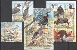 E1053 1997 ERITREA FAUNA BIRDS !!! 2BL+2KB MNH - Pájaros
