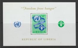 BLOC NEUF DU LIBERIA - CAMPAGNE CONTRE LA FAIM N° Y&T 26 - Against Starve