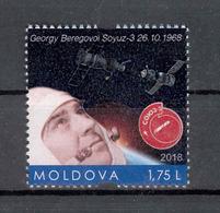 Moldova 2018 Space Soyuz-3 Beregovoi G.T. 1v** MNH  Personalized Stamps - Moldova