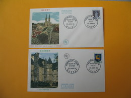 FDC 1964 France N° 1351A Et 1351B  Armoiries De Villes - FDC