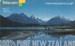 TARJETA TELEFONICA DE NUEVA ZELANDA, Lake Diamond, Southern Alps. 100% PURE NEW ZEALAND, Nº162. NZ-C-143. (048) - Nueva Zelanda