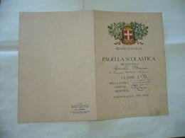 REGNO D'ITALIA PAGELLA SCOLASTICA ANNO 1927-1928 CHIARA D'ASSISI  MILANO - Diploma & School Reports