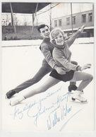 D-Eiskunstläuferpaar Gudrun Hauss/Walter Häfner - Fotokarte Mit Autogrammen (8.an Olymp.Spielen 1968)   (A-77-170701) - Olympic Games
