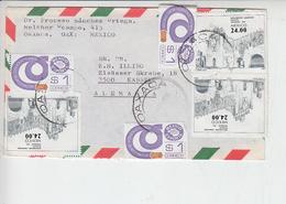 MESSICO   1983 - Yvert 1036  Lettera Per La Germania - Messico