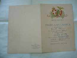 REGNO D'ITALIA PAGELLA SCOLASTICA ANNO 1928-1929 CHIARA D'ASSISI  MILANO - Diploma & School Reports