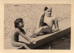 Photo Originale Naturisme Naturiste îles Du Levant Nu - Beauté Féminine (1941-1960)