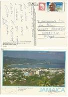 USA Jamaica Mixed Franked Pcard Of Jamaica From NY 13nov1993 To Italy - Jamaica (1962-...)