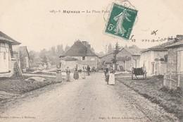 MATHAUX - LA PLACE PUBLIQUE - BELLE CARTE ANIMEE - TOP !!! - Other Municipalities