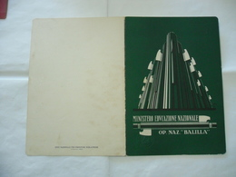 PAGELLA SCOLASTICA ONB GIL ANNO 1931-1932  MILANO - Diplomi E Pagelle