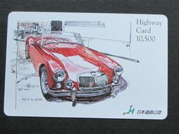 JAPAN HIGHWAY PREPAIDCARD - CAR MG-A - Giappone