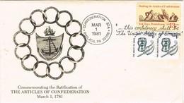 33005. Carta PHILADELPHIA (P.A) 1981. Drafting Articles Confederation - Stati Uniti