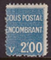 -France Colis Postaux 100** - Mint/Hinged