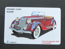 JAPAN HIGHWAY PREPAIDCARD - CAR FORD V 8 1936 - Giappone