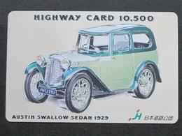 JAPAN HIGHWAY PREPAIDCARD - CAR AUSTIN SWALLOW 1929 - Giappone