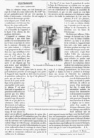 """"""" ELECTROSCOPE """" Pour CORPS RADIO-ACTIFS  1900 - Technical"""