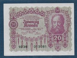 Autriche - Billet De 20 Kr  1922 - Niger
