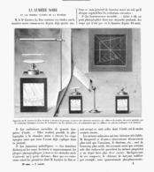 LA LUMIERE NOIR Et Les FORMES ULTIMES De La MATIERE   1900 - Technical