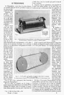 "LE  "" TELEGRAPHONE ""  1900 - Technical"