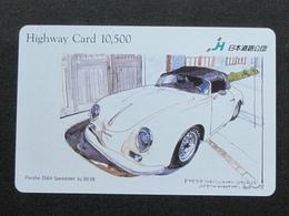 JAPAN HIGHWAY PREPAIDCARD - CAR PORSCHE 356A - Giappone