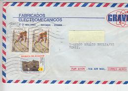 ECUADOR  1984 - Yvert  1042-1055 Sport - Sci) Air Mail To Italy - Ecuador