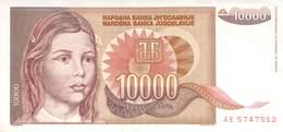 10 000 Dinar Banknote Jugoslawien 1992 AU/EF (II) - Jugoslawien
