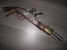 Pistolet A Silex Brander Tir A Poudre Noire Ou A Blanc A Vérifier Vendu Pour Déco - Decorative Weapons