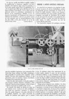 """PRESSE à COTON CONTINUE """" SWENSON """"  1900 - Technical"""