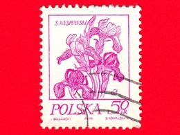 POLONIA - Usato - 1974 - Disegni Di Fiore Di Wyspianski - Flowers - Fleurs - Iris - 50 - 1944-.... Repubblica
