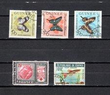 Guinea   1963-64  .-  Y&T  Nº   32/34-35-38   Aéreos - República De Guinea (1958-...)