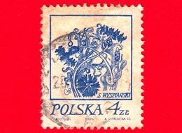 POLONIA - Usato - 1974 - Disegni Di Fiore Di Wyspianski - Fiordaliso - 4 - 1944-.... Repubblica