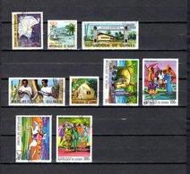 Guinea   1966-68  .-  Y&T  Nº   61-62-69/70-71-82/84   Aéreos - República De Guinea (1958-...)