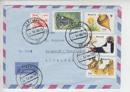 BRASILE  1979 - Yvert 1380-1398/400 To Allemania - Brasile