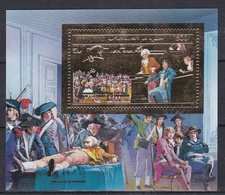 COMORES  :  Bicentenaire De La Révolution Française  : Robespierre Et Saint Just  Neuf XX Multicolore Et Or - Franz. Revolution