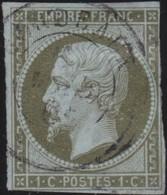 France   .    Yvert  .        11  (2 Scans)          .     O     .    Oblitéré   .   /   .     Cancelled - 1853-1860 Napoleone III