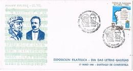 33011. Carta SANTIAGO De COMPOSTELA (Coruña) 1981. HIMNO GALLEGO. Musica - 1931-Hoy: 2ª República - ... Juan Carlos I