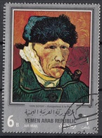 "Yemen 1968 YAR Mi. 658 ""Autoritratto Orecchio Bendato"" Quadro Dipinto Vincent Van Vogh CTO Paintings - Yemen"