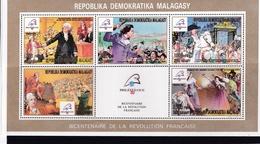 MADAGASCAR :  Bicentenaire De La Révolution Française  :  923 à 927  Neuf XX - French Revolution